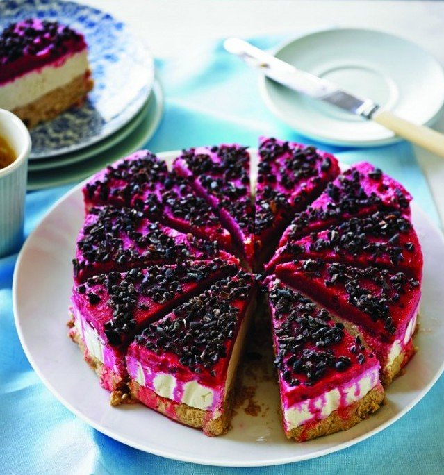 Raw Raspberry Cheesecake