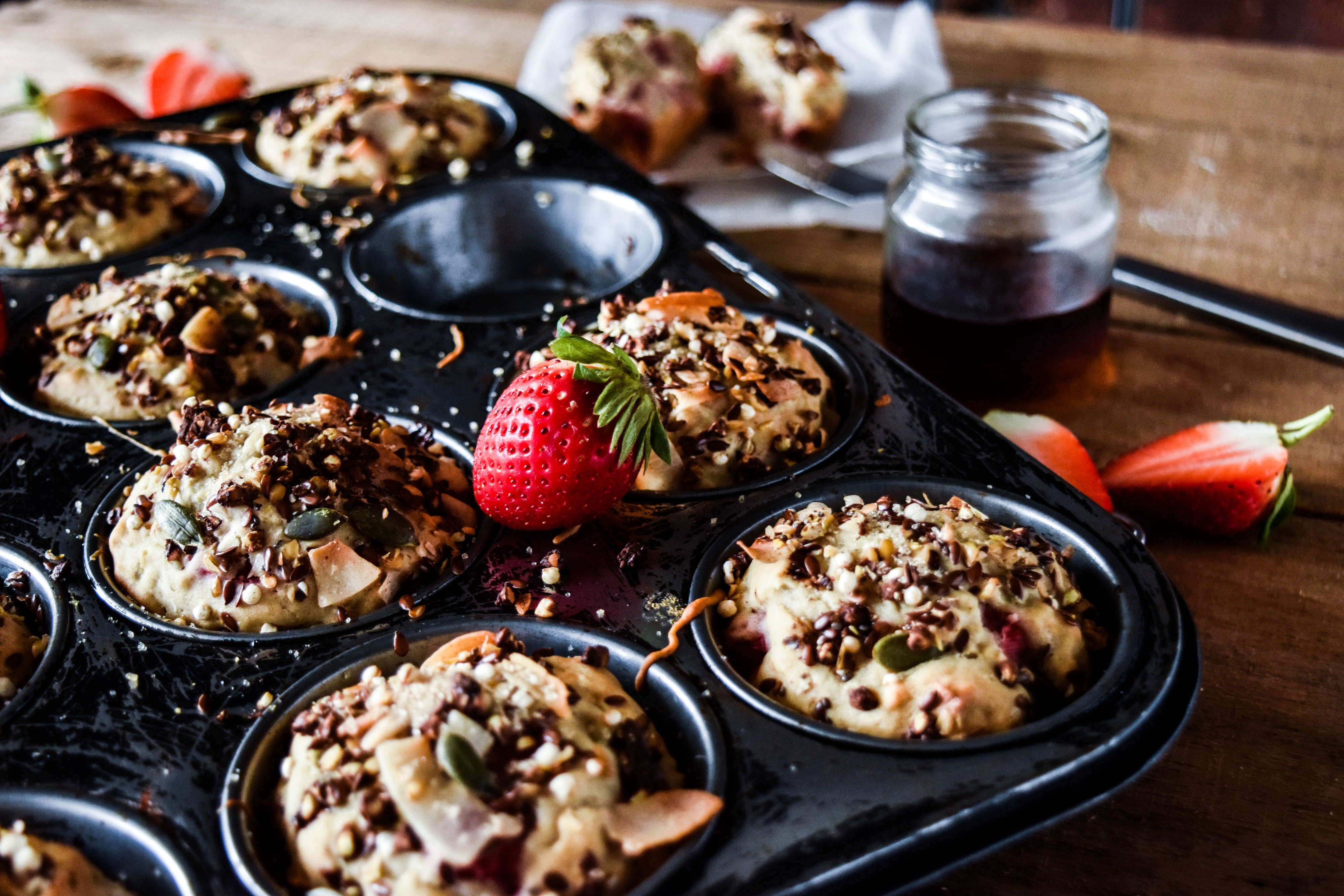 Healthy Gluten Free Apple and Berry Breakfast Muffins