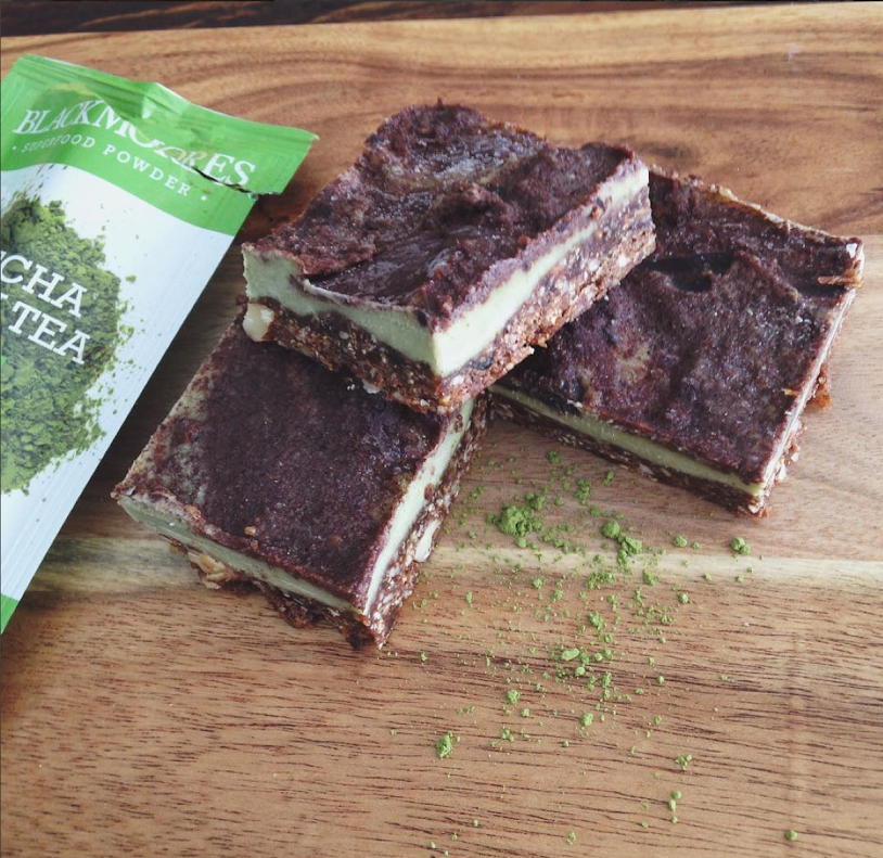 Raw Matcha and Chocolate Slice