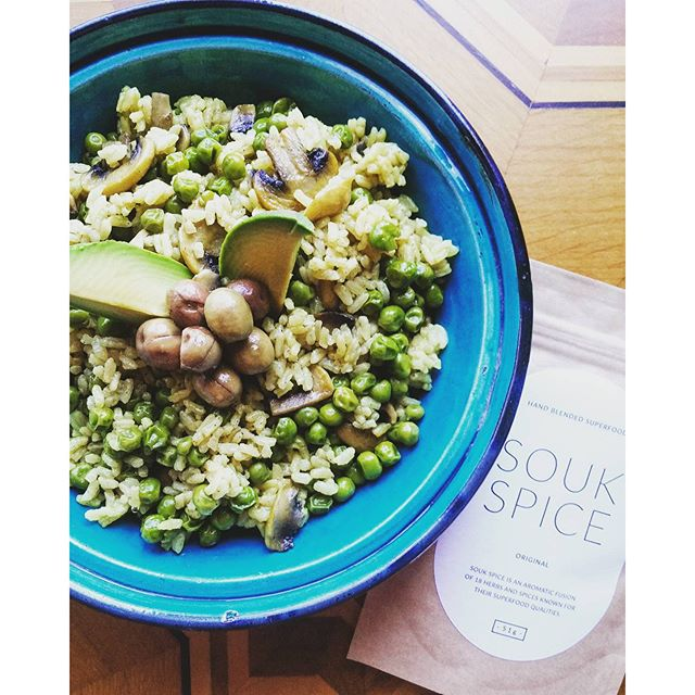 One Pot Pea and Mushroom Rice