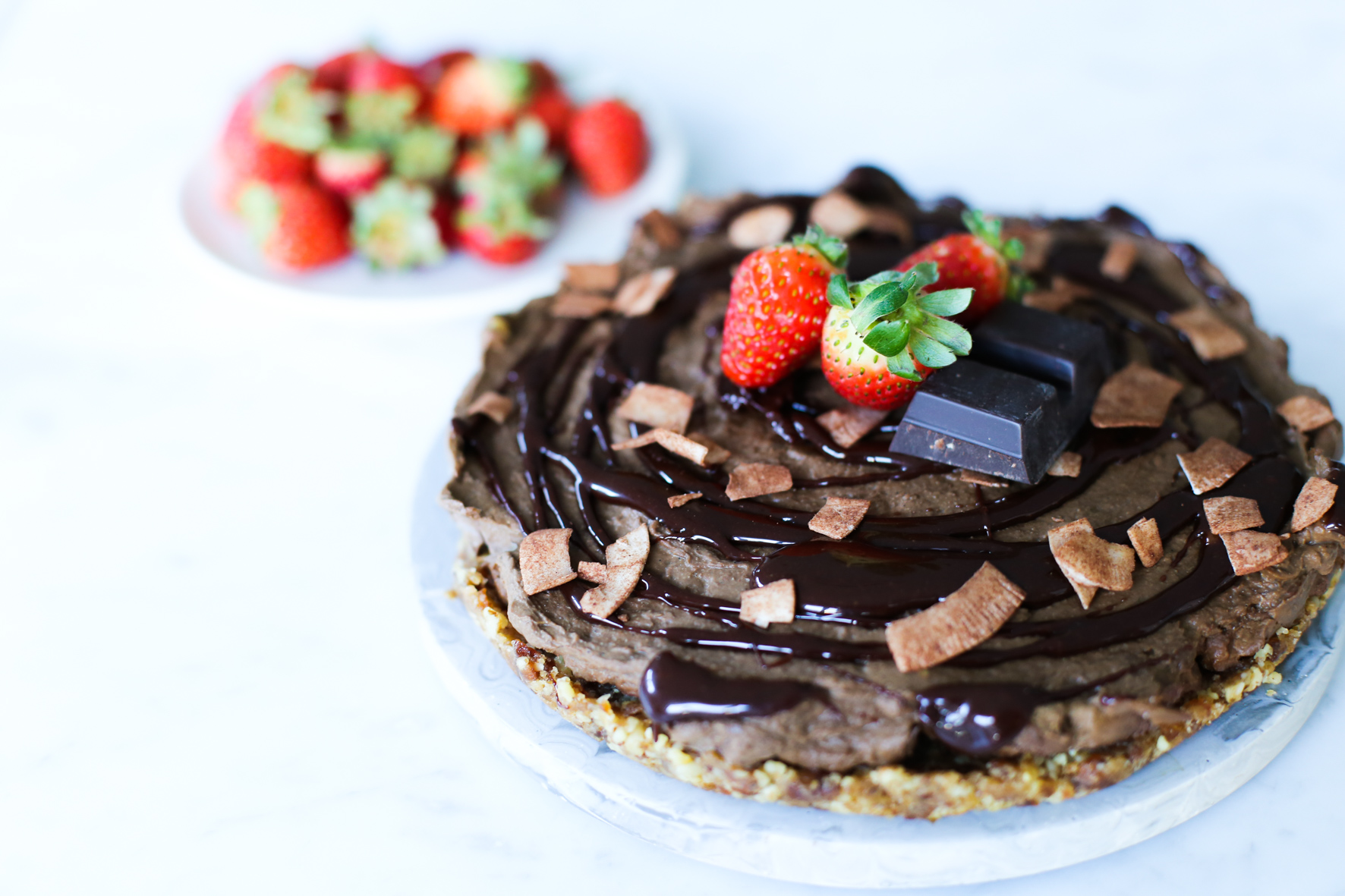Raw Choc Avocado Cake