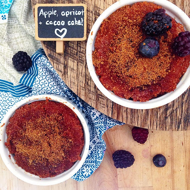 Apple Apricot and Cacao Cakes
