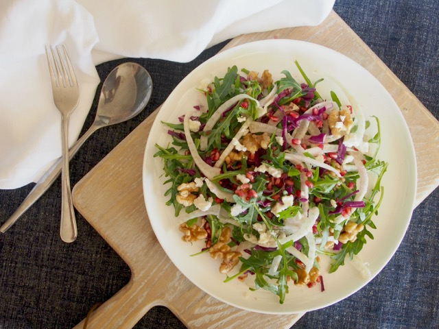 Pomegranate, Fennel and Goat's Cheese Salad