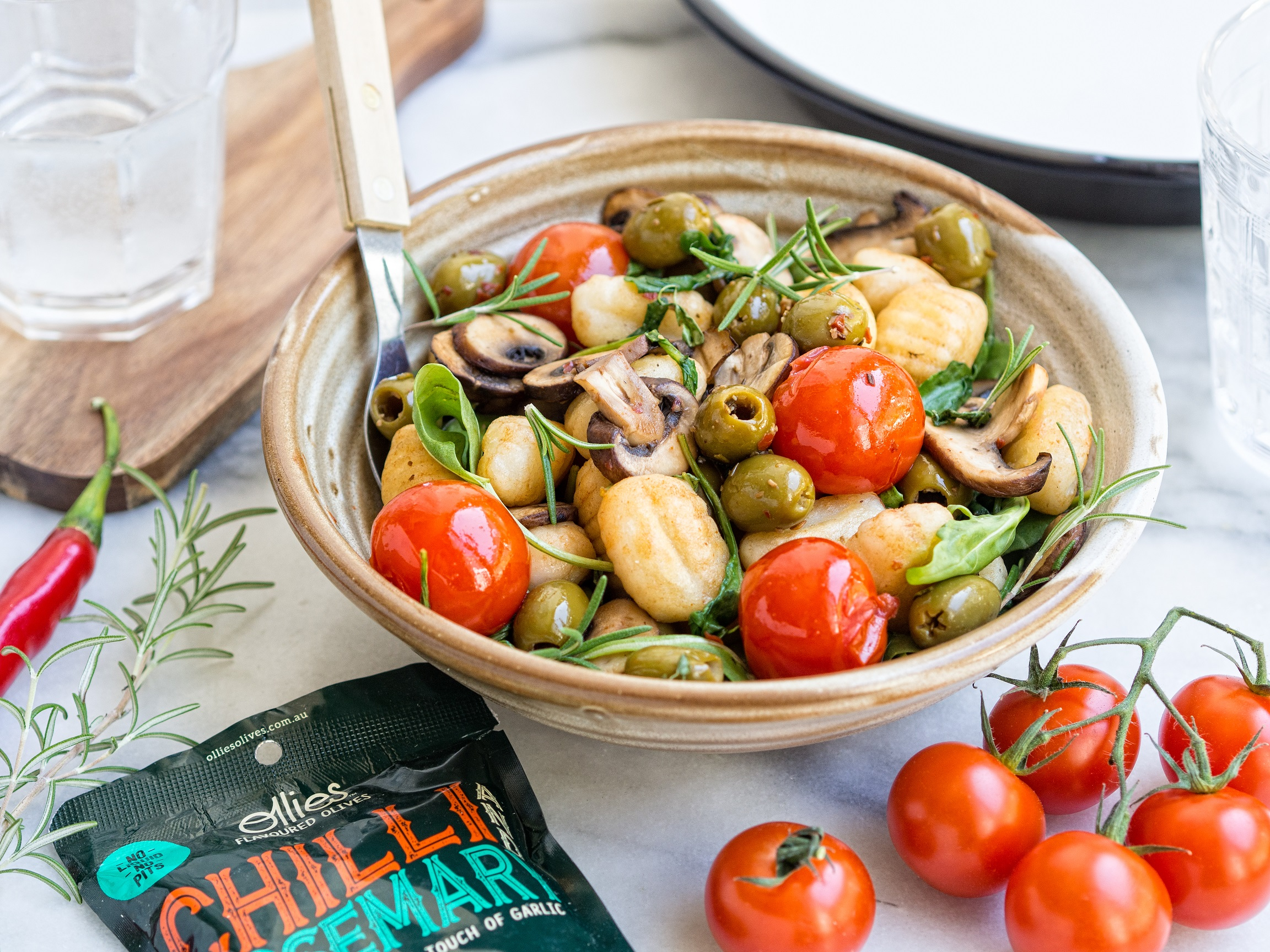 Healthy Vegetable and Olive Gnocchi