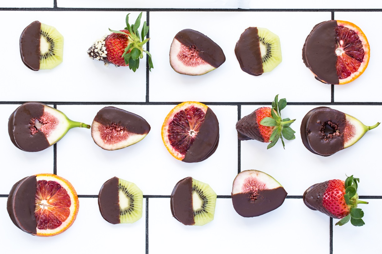 Chocolate-Dipped Fruit Bites