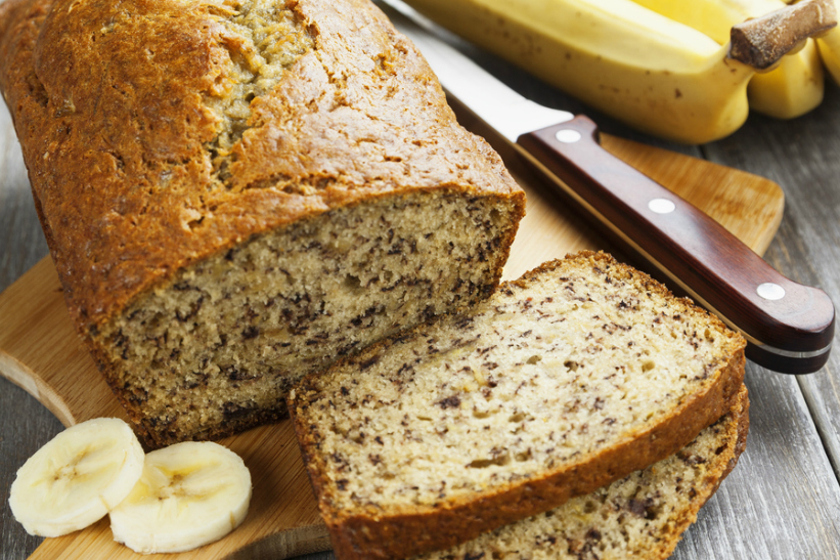 Low Carb Lemon, Coconut and Banana Loaf
