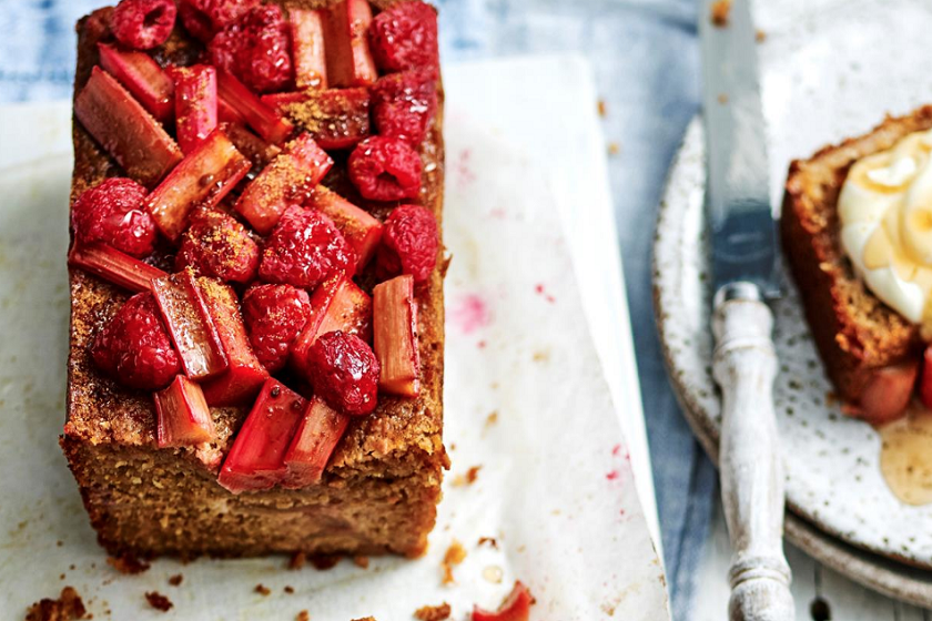 Rhubarb And Raspberry Morning Loaf