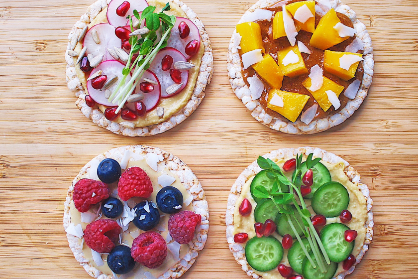 Healthy Rice Cracker Toppings